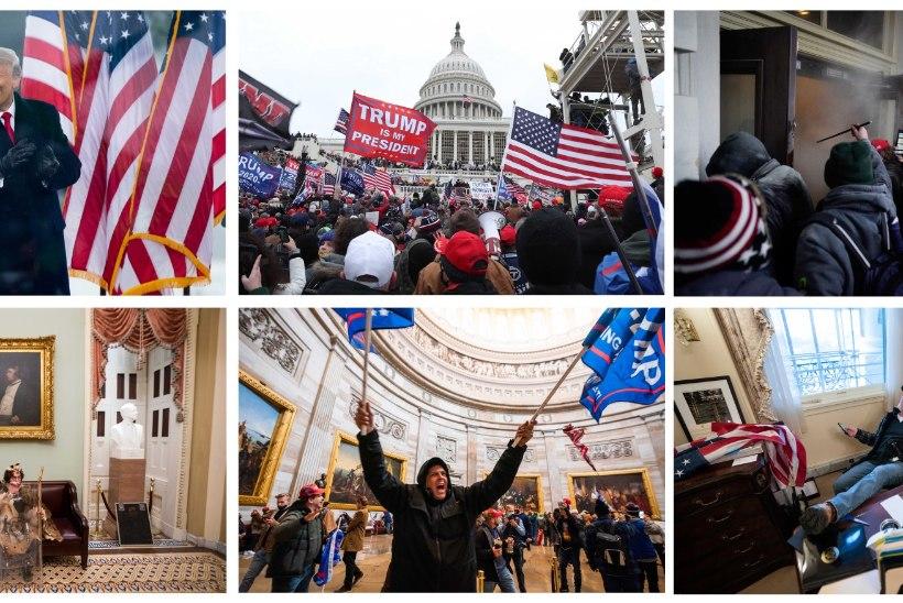 SUUR GALERII | Politsei alahindas Trumpi toetajaid, kes pääsesid Kapitooliumisse laamendama