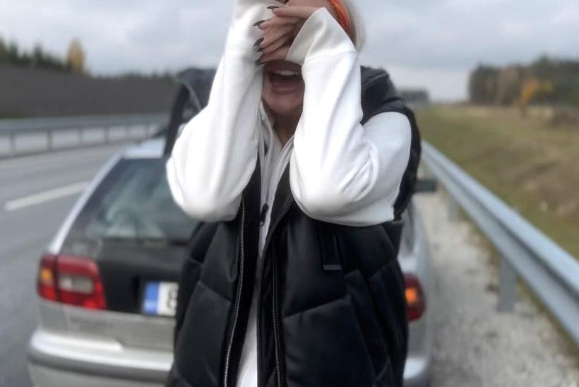 HENSUGUSTA SÜNNIPÄEVAPEO OOTAMATU LÕPP! Suunamudijate Martti Halliku ja Liina Ariadne auto läks keset maanteed katki