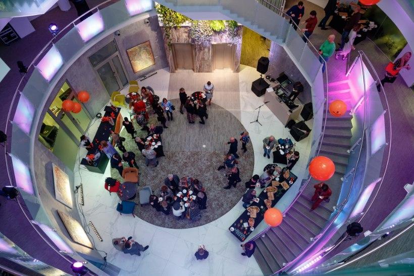 FOTOD   Kadrioru galerii avati rohke valgusemängu ja muusikaga