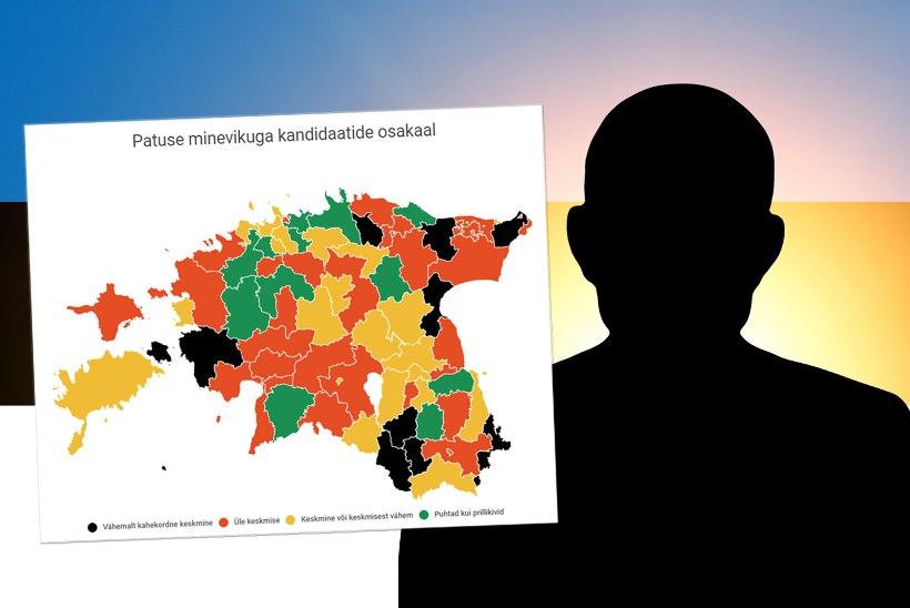 VÕIMULETRÜGIJATE KURITEOD | KOKKUVÕTE: 215 kriminaalkorras karistatud kandidaati üle Eesti! Millise partei paturegister on kõige pikem?