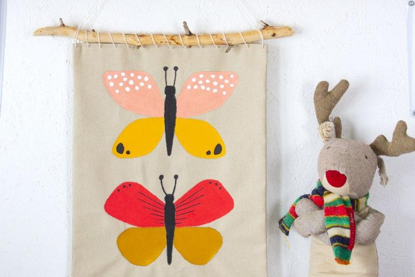 RUUMID RÕÕMSAKS! Kuidas teha kangale maalitud liblikatega seinapilti?