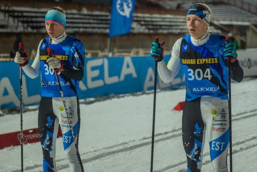 Eesti suusakaksikud sõitsid juunioride MMil ühte sekundisse