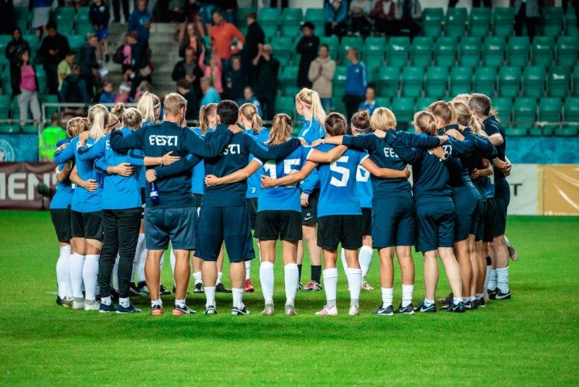 Mitmete puudujatega naiste jalgpallikoondis võõrustab Sloveeniat