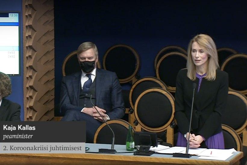 Kaja Kallas andis riigikogus aru koroonakriisi juhtimise kohta