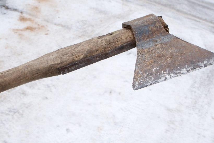Sõbrapäeval poodi kirvega röövinud mees võeti vahi alla