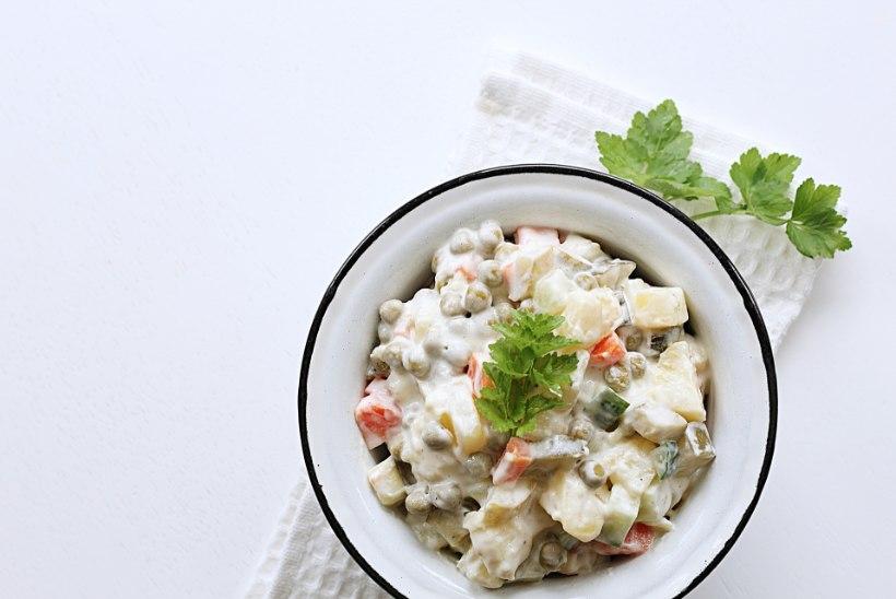 TAIMSE TOIDU AUSTAJALE: isetehtud munavaba majoneesikastmega kartulisalat