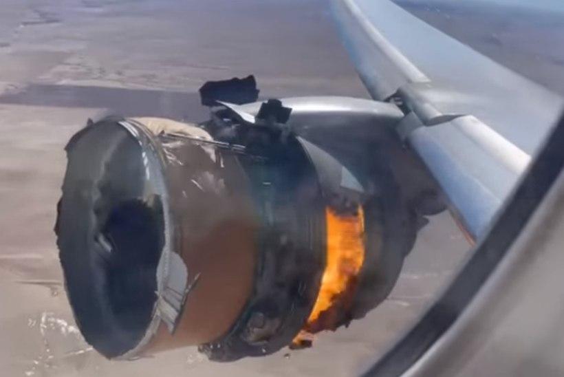 VIDEO | Boeingu lagunenud mootor pakkus reisijatele kõhedat vaatepilti