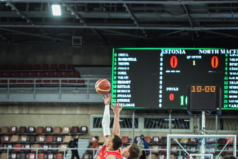 BLOGI JA GALERII | TEHTUD! Eesti korvpallikoondis kaotas Põhja-Makedooniale, aga jõudis EM-finaalturniirile!