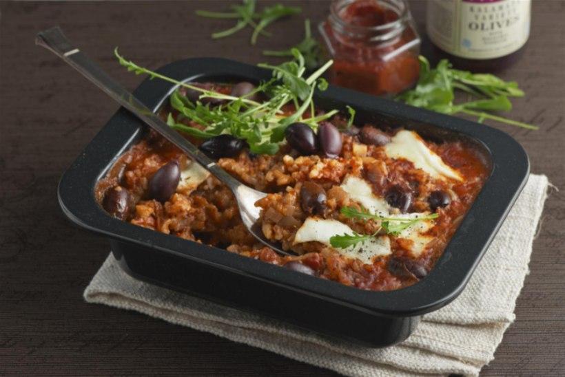 KÜLMA AJA ROOG   Riisivorm tomati, oliivide ja mozzarella'ga