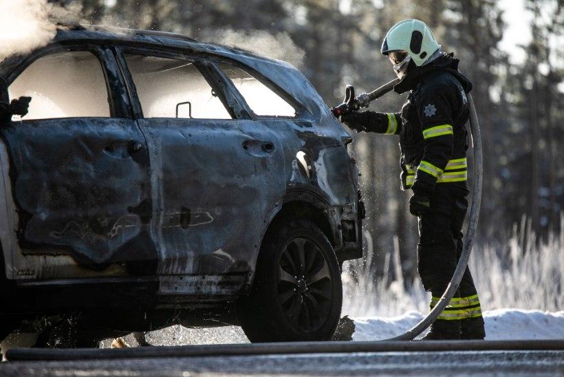 FOTOD | Saaremaal põles sõiduauto maani maha