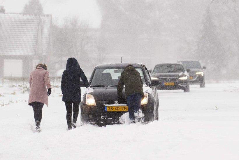 Lumetorm sundis Hollandis ja Saksamaal ronge seisma