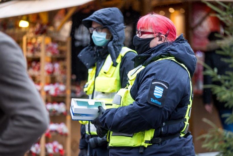 Maski kandmisest keeldunud mees ründas klienditeenindajat