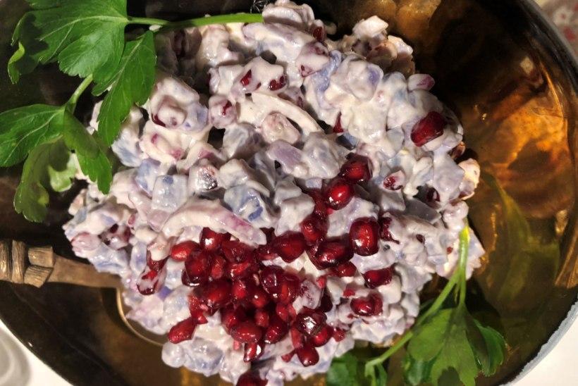 EVELIN ILVESE PAASTUKÖÖK | Kesk-Aasia kartulisalat granaatõunaseemnetega