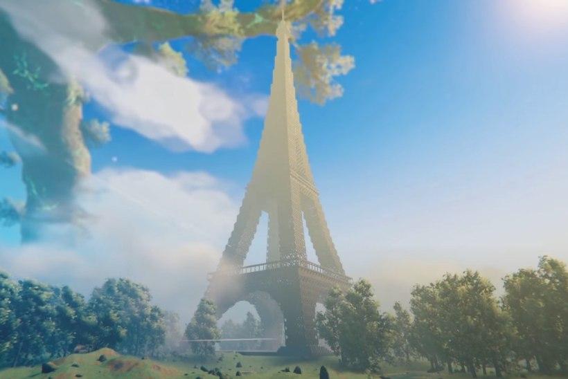 """USKUMATU VIDEO: """"Valheimi"""" mängijad ehitasid 40 000 kuubikust koosneva Eiffeli torni"""