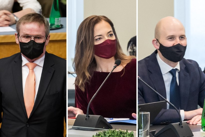 Riigikogu infotunnis vastasid küsimustele Aab, Kersna ja Mölder