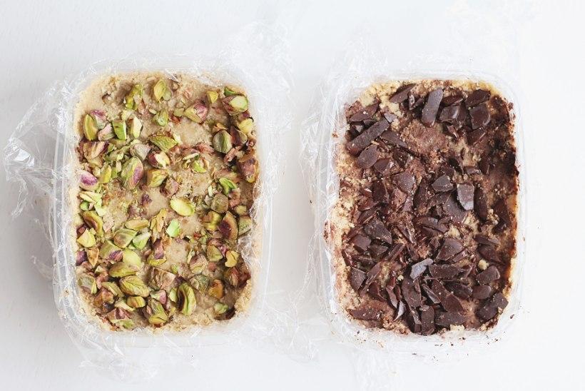 SAMM-SAMMULT ÕPETUS: kodune seesamihalvaa pistaatsiapähklite, mandlite või šokolaadiga