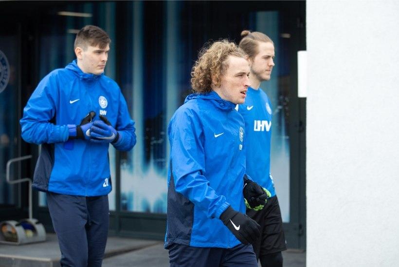 FOTOD   Uue näoga jalgpallikoondis tegi Martin Reimi juhendamisel enne äralendu viimase trenni