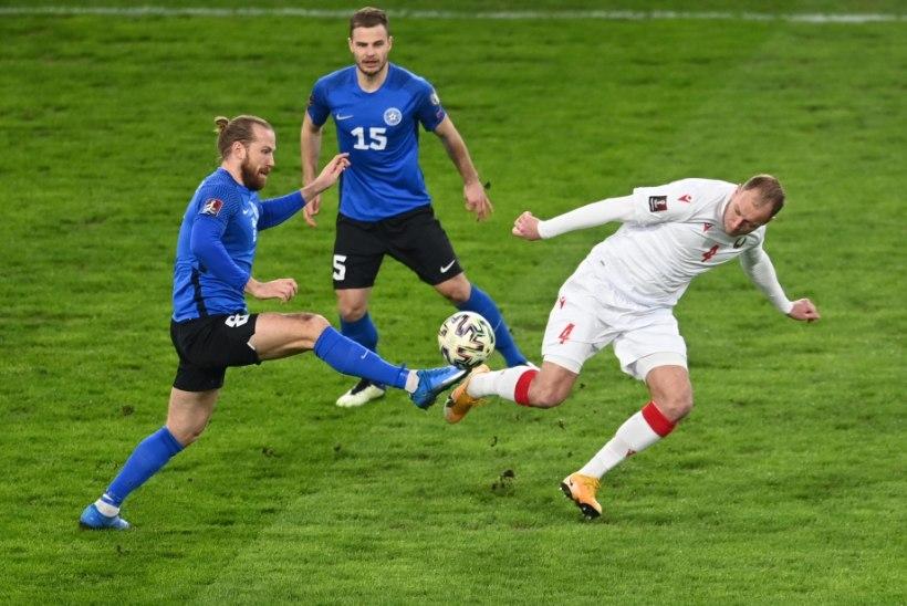 BLOGI   Eesti läks Valgevene vastu kahel korral juhtima, kuid lõpuks nopiti võrgust neli palli