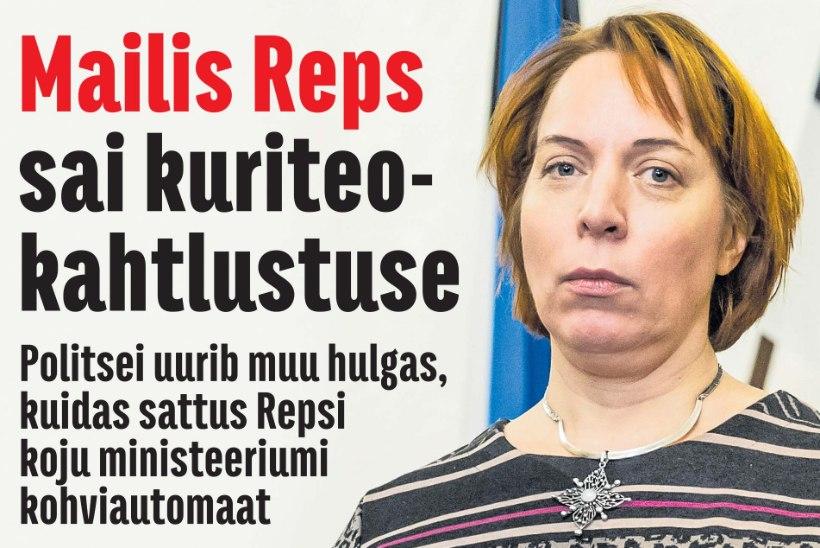 Minister Liina Kersna peab selgitama, kas Mailis Repsi kohvimasin tagastati ministeeriumile