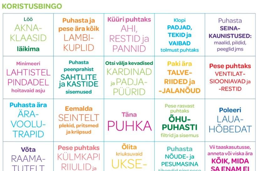 VÕTA RUUDUSTIK APPI! Bingo teeb kevadkoristuse lõbusamaks