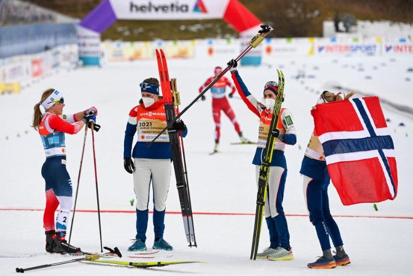 Naiste teatesõidu võitis oodatult Norra, Eesti sai ringiga