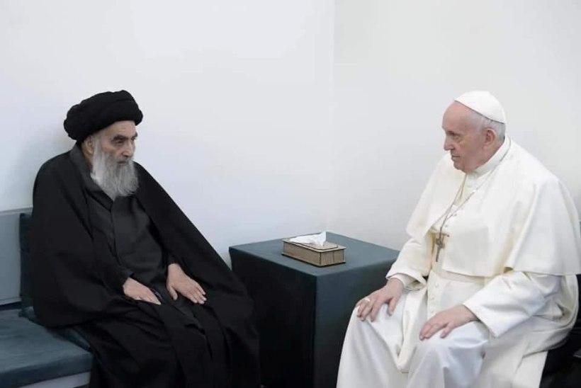 Paavst Franciscus kohtus Iraagis mõjuka šiiavaimulikuga