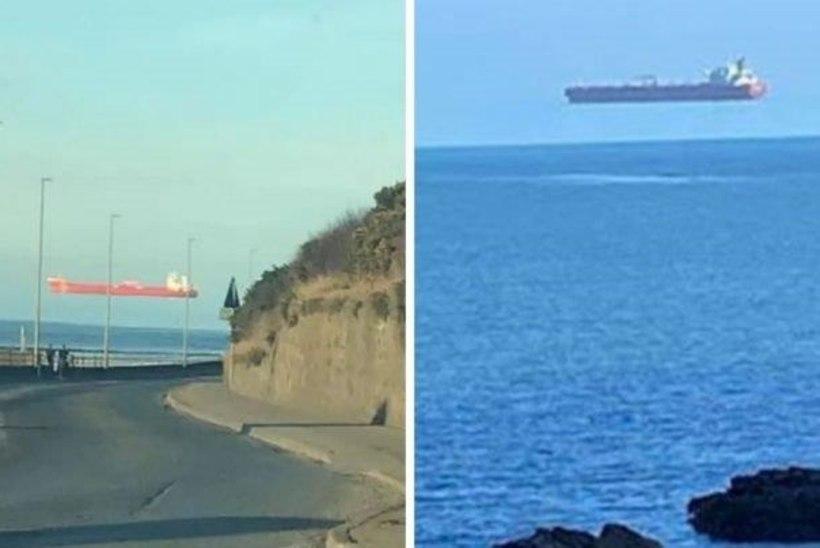 FOTOLE JÄÄDVUSTUNUD IME: kaubalaev ripub taevas