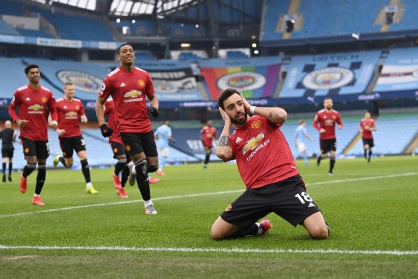 Manchester United lõpetas City superpika võiduseeria, Liverpool teenis kodus taas kaotuse