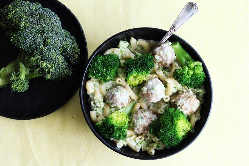 VAID 5 KOOSTISOSA: lihapallidega brokoli-pasta