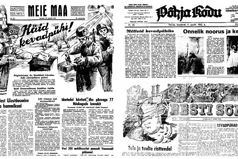 PÜHADEVIIN JA PAKID RINDELE: Eestis peeti Saksa okupatsiooni ajal munadepühi au sees