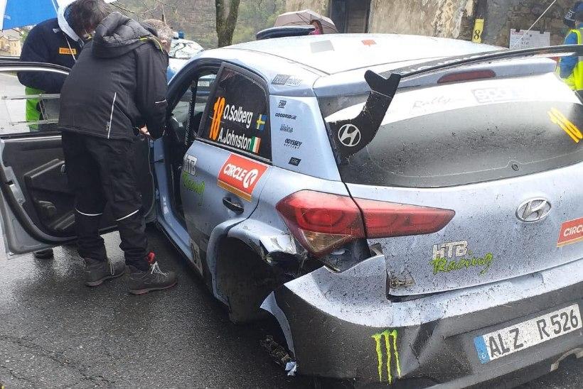 Võidu nimel heidelnud Solberg kaotas Sanremos ratta ja katkestas