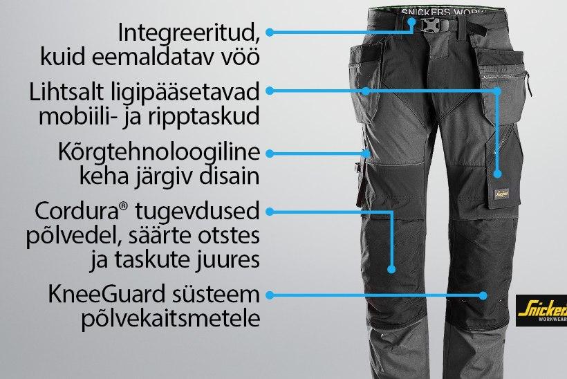 Miks Snickers Workwear püksid on parimad?