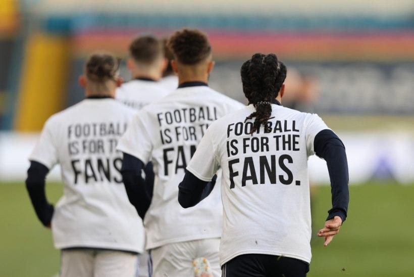 FOTOD | Livepooliga mängiv Leeds saatis Inglismaa meistri suunas terava sõnumi