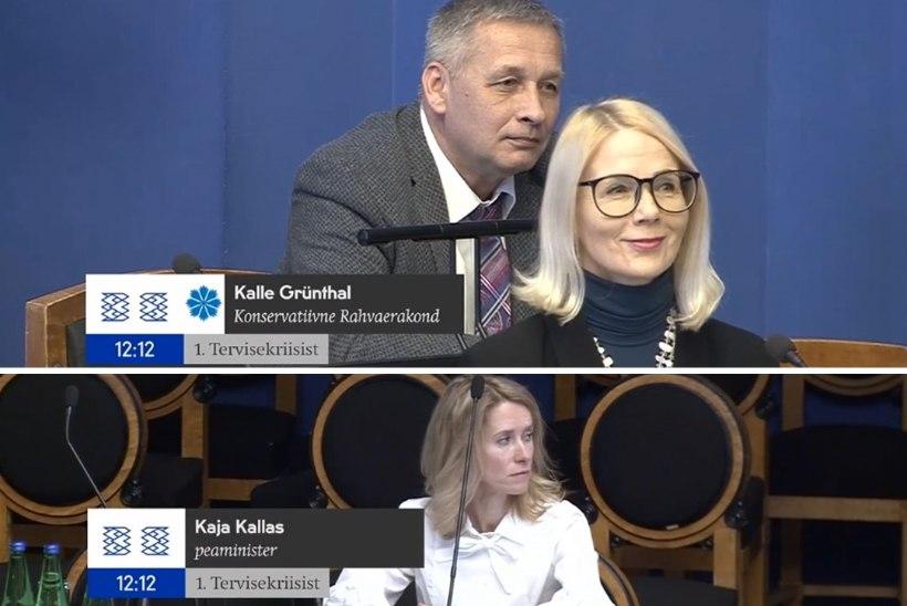 """VIDEO   Kalle Grünthal riigikogus peaministrile: """"Kust sa, lilleke, siia said?"""""""