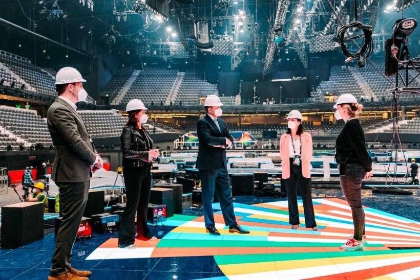 GALERII | Hollandi kuningas käis uurimas, kuidas käivad Eurovision 2021 ettevalmistused