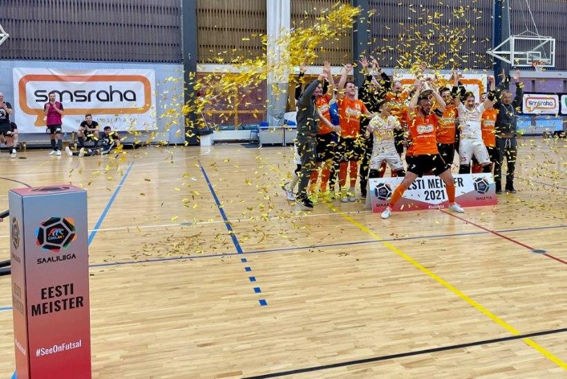 Eesti saalijalgpalli meistriks krooniti Viimsi meeskond