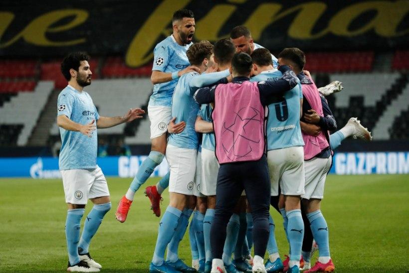 Manchester City tuli kaotusseisust välja ja alistas poolfinaali avavaatuses PSG