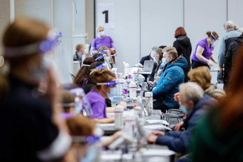 Sõle Spordikeskuses ja Tondiraba Jäähallis vaktsineeriti laupäeval 2880 inimest
