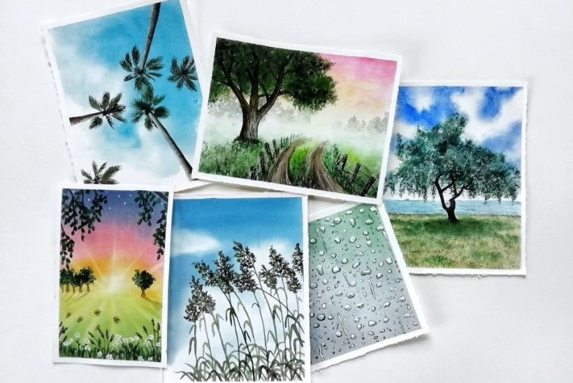 LUMMAVAD PILDID | Hobikunstnik Moonika Luhamaal sünnib iga päev üks akvarellmaal!