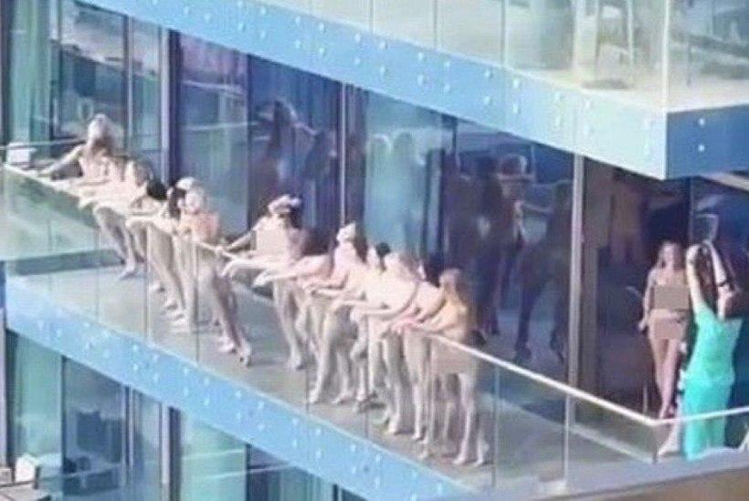Vangla ootab? Keset päeva filmiti rõdul alasti naisi