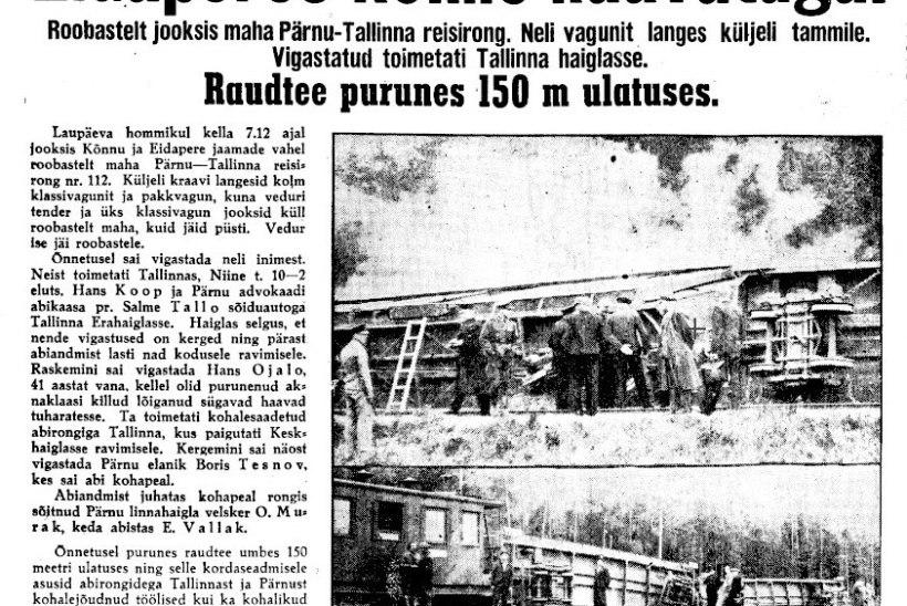 VIIS RONGIÕNNETUST: Eesti raudteedel toimunud raskete avariide taga olnud nii kuritahtlikkus kui ka halb ilm