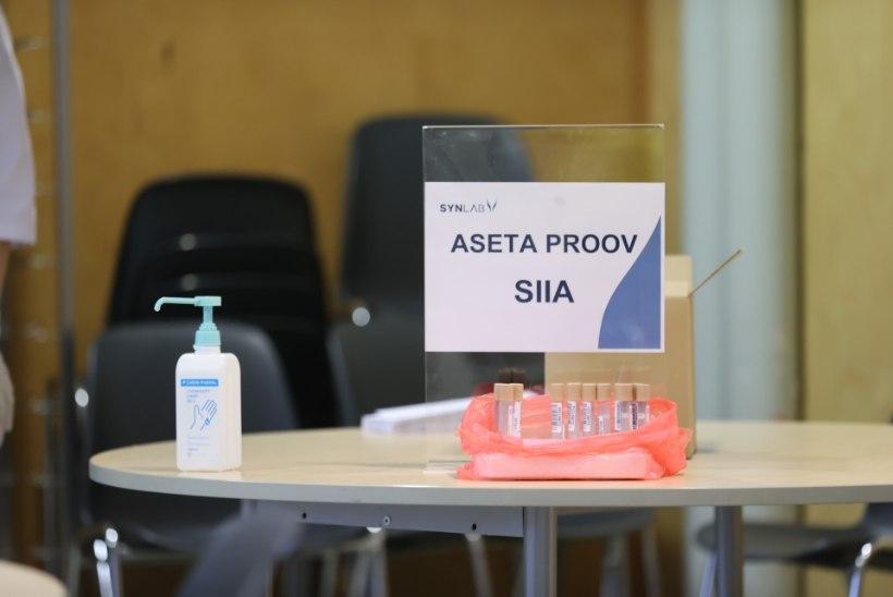 GALERII   Westholmi gümnaasiumis katsetati õpilastelt kurgukuristusproovide võtmist