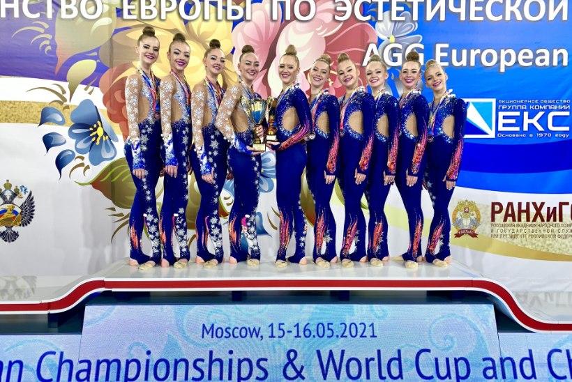 Eesti rühmvõimlejad võitsid Euroopa meistrivõistlustel hõbemedali