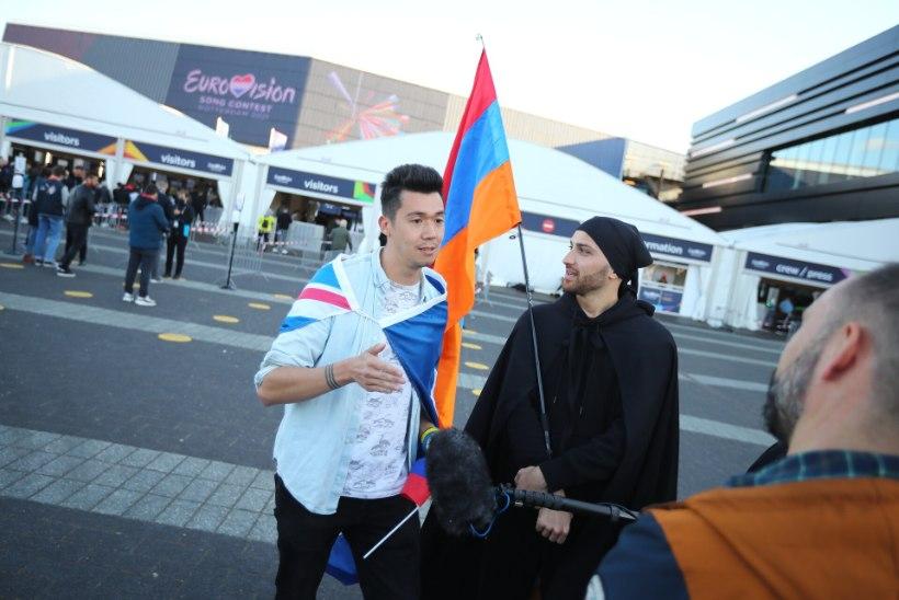 FOTOD   3500 õnnelikku pääses Eurovisioni poolfinaali kohapeale vaatama