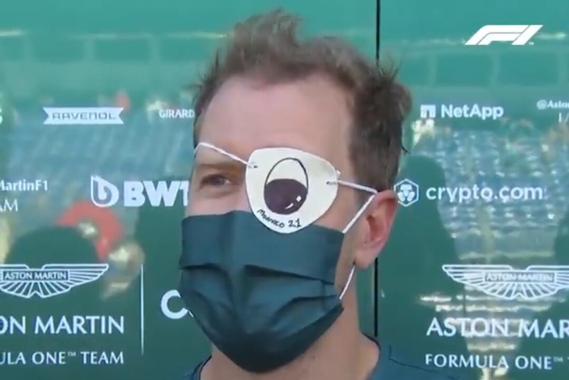 Vettel arvas vabatreeningul, et silmast jookseb verd
