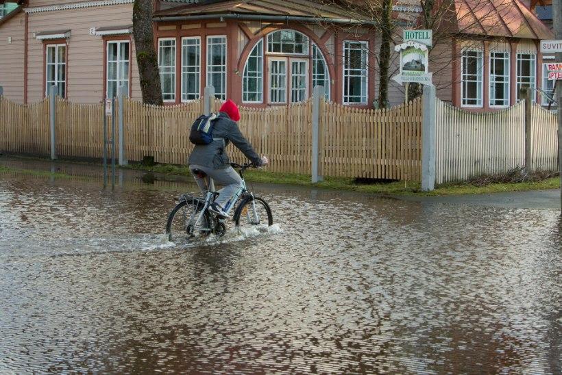 ÜLEUJUTUSTE OHT: kolmapäev üllatab ohtra vihmasaju ja valju tuulega