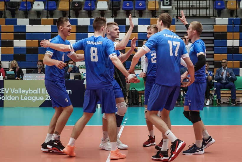 Eesti vollekoondis alistas kuldliiga avamängus Hispaania. Abitreener Lüütsepp: algus oli natuke kännu taga kinni
