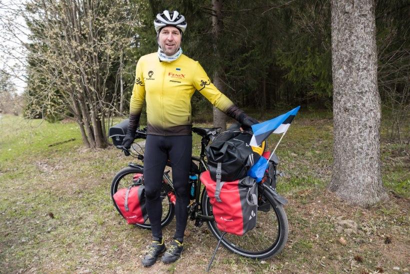 """Jalgrattaga ümbermaailmareisile startinud Tõnis Milling: """"Minu sihtpunkt on kodu, aga ma lähen sinna lihtsalt ringiga."""""""