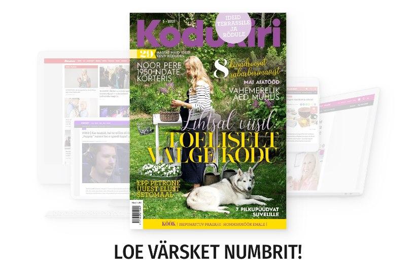 UUS KODUKIRI   Maikuu ajakirjas heidame pilgu aiakujunduse peapreemia võitnud aeda Saaremaal