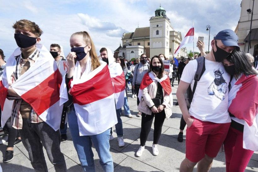Sajad inimesed avaldasid meelt Valgevene valitsuse vastu